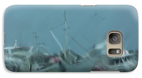 Galaxy Case featuring the photograph Rain Boats by Evelyn Tambour