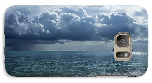 Galaxy Case featuring the photograph Rain Clouds At Waimanalo by Leigh Anne Meeks