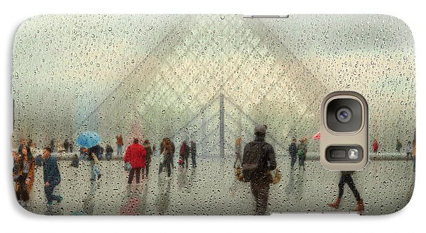 Colours Galaxy S7 Case - Rain In Paris by Roswitha Schleicher-schwarz