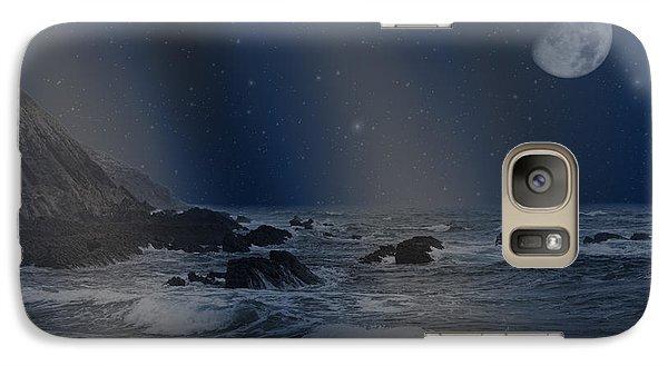 Galaxy Case featuring the photograph Rain Of Stars On The Sea  by Angel Jesus De la Fuente