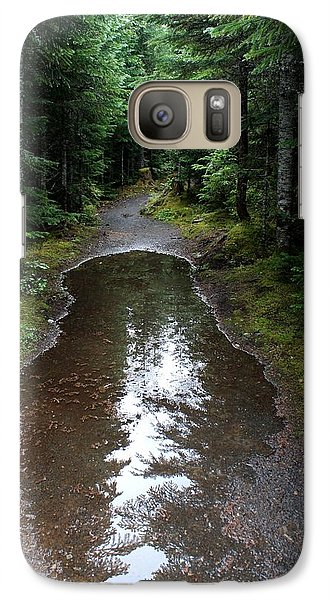 Galaxy Case featuring the photograph Rain Puddle - Cheakamus Forest by Amanda Holmes Tzafrir