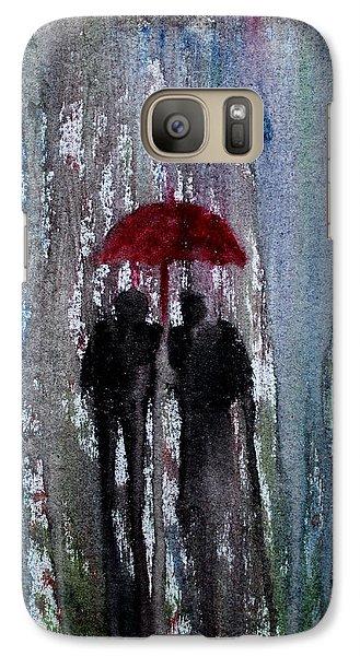 Galaxy Case featuring the painting Rain by Saranya Haridasan