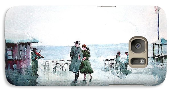 Galaxy Case featuring the painting Rain Serenad - Moments Of Life... by Faruk Koksal
