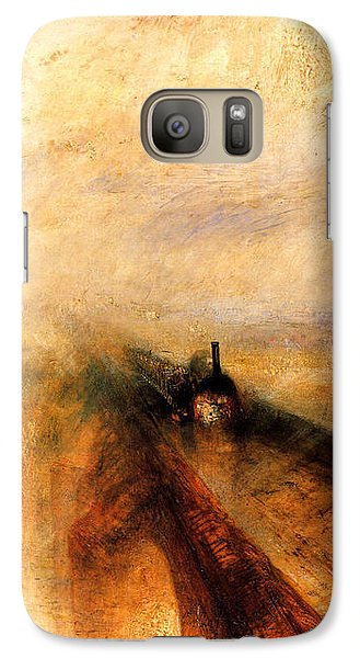 Train Galaxy S7 Case - Rain Steam And Speed.  by J M W Turner