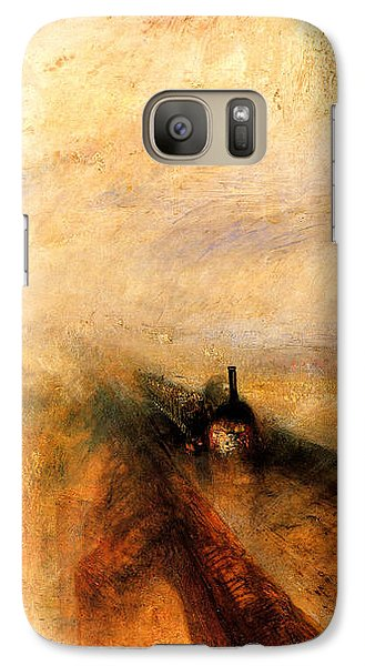 Train Galaxy S7 Case - Rain Steam And Speed.  by J M W Turner