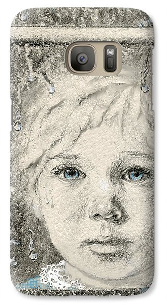 Galaxy Case featuring the drawing Rain  by Terry Webb Harshman