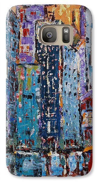 Galaxy Case featuring the painting Rain by Zeke Nord