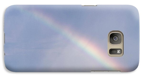 Galaxy Case featuring the photograph Rainbow And Oil Pump by Rob Graham