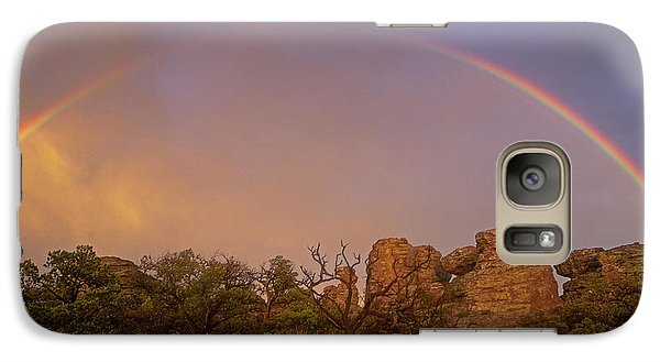 Galaxy Case featuring the photograph Rainbow At Chiricahua by Keith Kapple