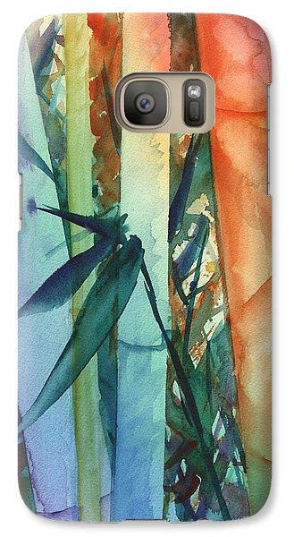 Galaxy Case featuring the painting Rainbow Bamboo 2 by Marionette Taboniar