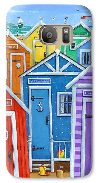 Colours Galaxy S7 Case - Rainbow Beach Huts by MGL Meiklejohn Graphics Licensing