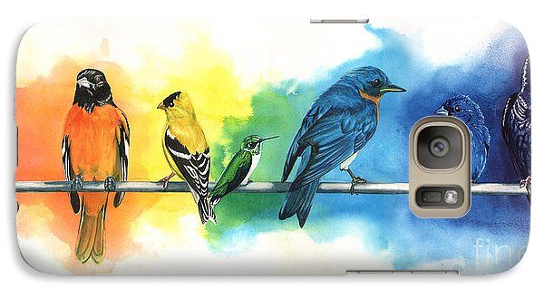 Rainbow Birds Galaxy Case by Antony Galbraith