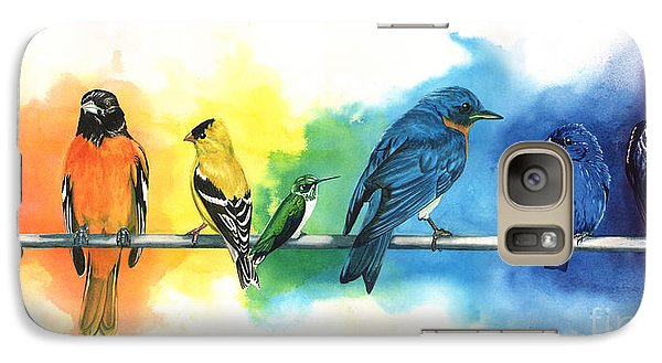 Animals Galaxy S7 Case - Rainbow Birds by Do'an Prajna - Antony Galbraith