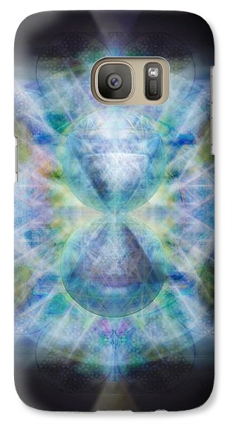 Galaxy Case featuring the digital art Rainbow Chalice Cell Isphere Matrix II by Christopher Pringer