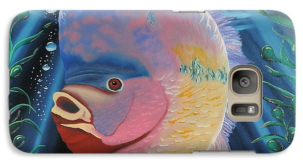 Galaxy Case featuring the painting Rainbow Devil Fish by Dianna Lewis