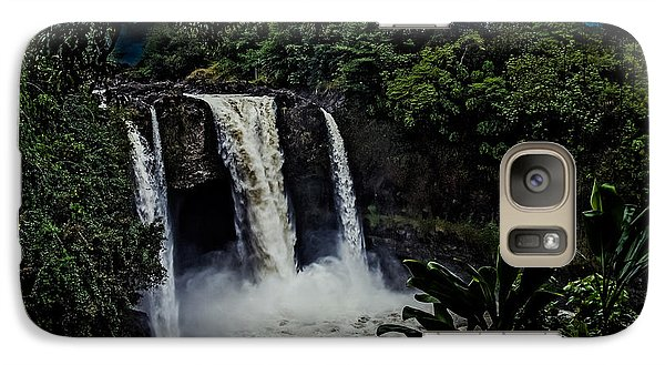 Galaxy Case featuring the photograph Rainbow Falls by Randy Sylvia