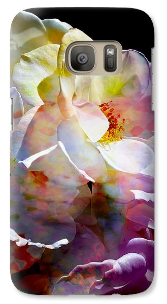 Galaxy Case featuring the photograph Rainbow Floral by John Fish