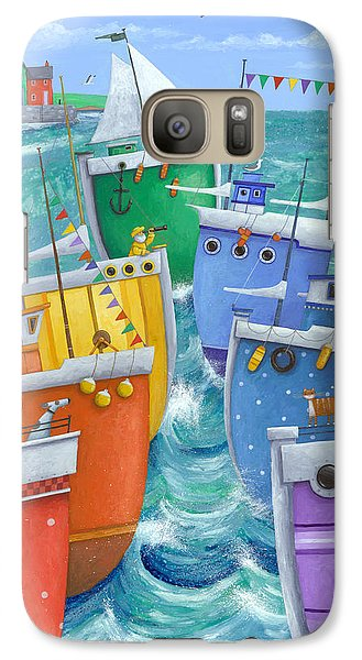 Colours Galaxy S7 Case - Rainbow Flotilla by MGL Meiklejohn Graphics Licensing