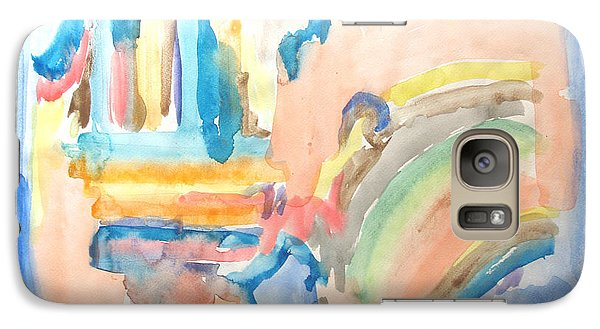 Galaxy Case featuring the painting Rainbow In A Box by Esther Newman-Cohen