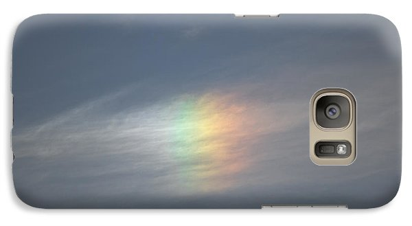 Galaxy Case featuring the photograph Rainbow In The Clouds by Eti Reid