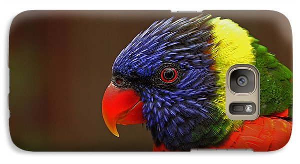 Galaxy Case featuring the photograph Rainbow Lorikeet by Andy Lawless