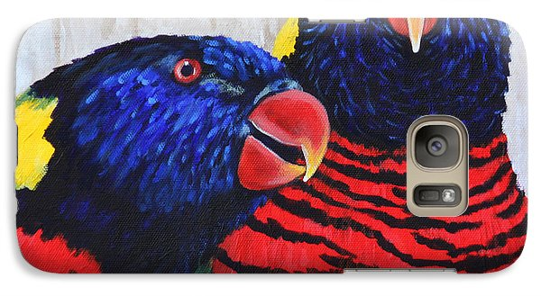 Galaxy Case featuring the painting Rainbow Lorikeets by Penny Birch-Williams