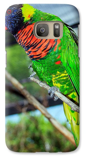 Galaxy Case featuring the photograph Rainbow Lory by Sennie Pierson