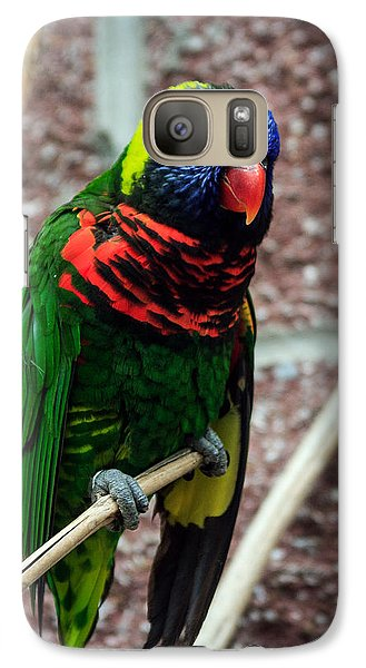 Galaxy Case featuring the photograph Rainbow Lory Too by Sennie Pierson