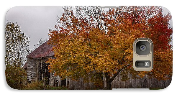 Galaxy Case featuring the photograph Rainbow Of Color In Front Of Nh Barn by Jeff Folger