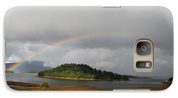 Galaxy Case featuring the photograph Rainbow Of The North by Ankya Klay