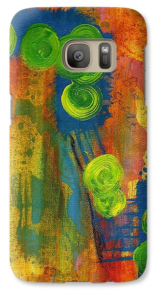 Galaxy Case featuring the painting Rainbow Of The Spirit by Lesley Fletcher