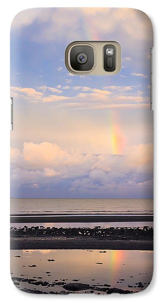 Galaxy Case featuring the photograph Rainbow Over Bramble Bay by Peta Thames