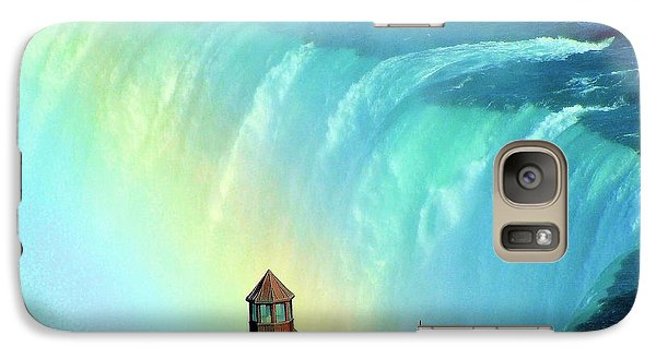 Galaxy Case featuring the photograph Rainbow Over Horseshoe Falls by Janette Boyd