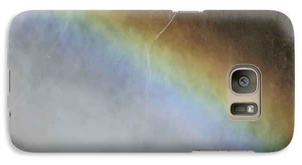 Galaxy Case featuring the photograph Rainbow Over The Falls by Laurel Powell