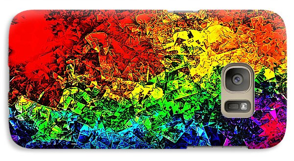 Galaxy Case featuring the digital art Rainbow Pieces by Bartz Johnson