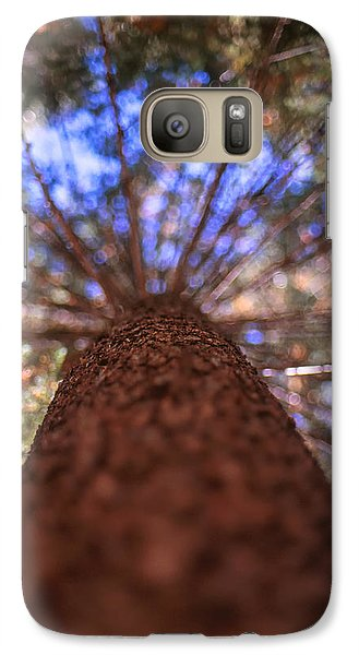 Galaxy Case featuring the photograph Rainbow Pine by Aaron Aldrich