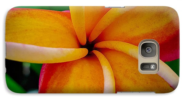 Galaxy Case featuring the photograph Rainbow Plumeria by TK Goforth