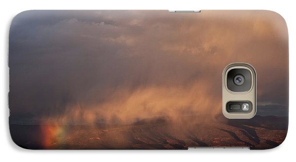 Galaxy Case featuring the photograph Rainbow Rain by Ron Chilston