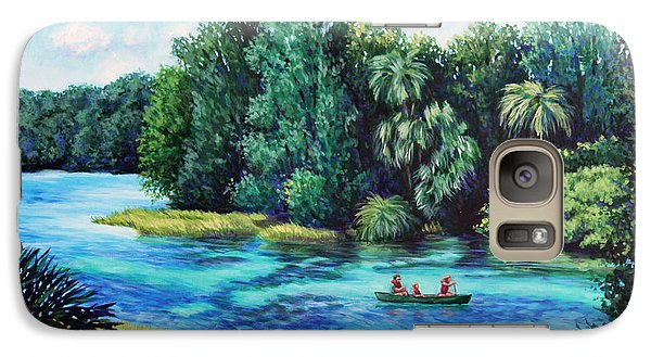 Galaxy Case featuring the painting Rainbow River At Rainbow Springs Florida by Penny Birch-Williams