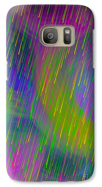 Galaxy Case featuring the digital art Rainbow Showers by Gayle Price Thomas