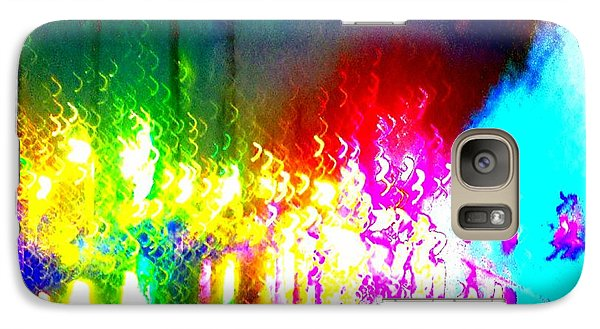 Galaxy Case featuring the photograph Rainbow Splash Abstract by Marianne Dow