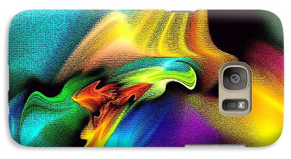 Galaxy Case featuring the digital art Rainbow Splashes by Lea Wiggins