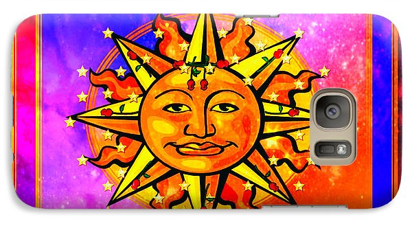 Galaxy Case featuring the digital art Rainbow Sun by Mary Anne Ritchie