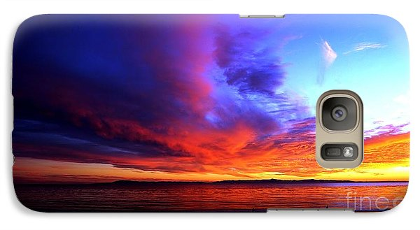 Galaxy Case featuring the photograph Rainbow Sunset by Sue Halstenberg