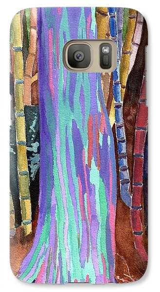 Galaxy Case featuring the painting Rainbow Tree by Lynne Reichhart