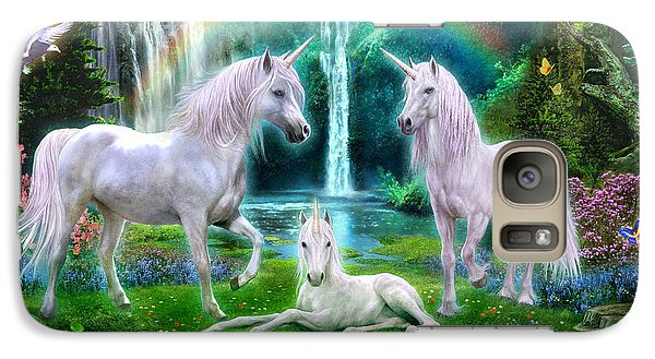 Rainbow Unicorn Family Galaxy S7 Case