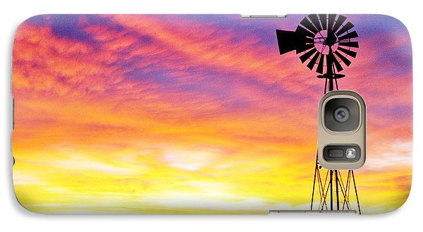 Galaxy Case featuring the photograph Rainbow Windmill by Shirley Heier