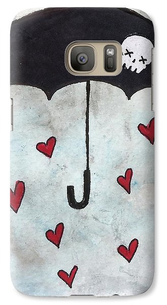 Galaxy Case featuring the painting Raindrops Of Love by Oddball Art Co by Lizzy Love