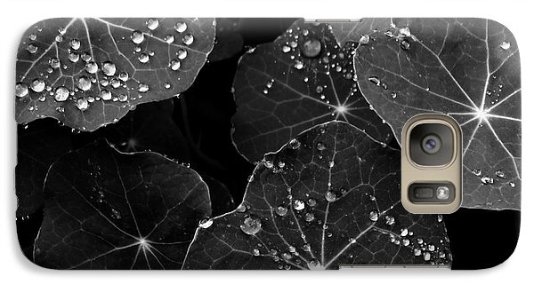 Galaxy Case featuring the photograph Raindrops On Nasturtium by Gayle Swigart