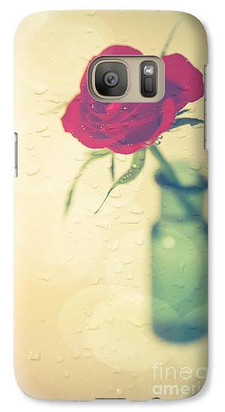 Rose Galaxy S7 Case - Raindrops On Roses . . . by Jan Bickerton